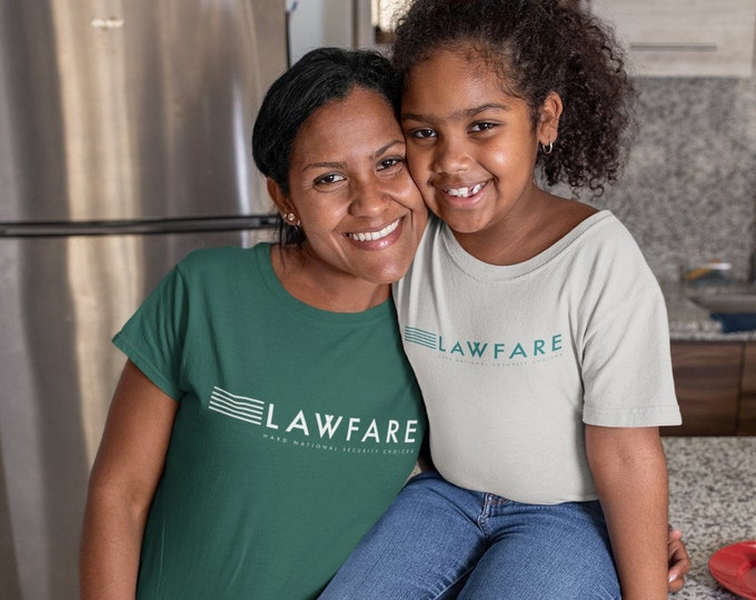 Lawfare Banner women's classic short sleeve t-shirt