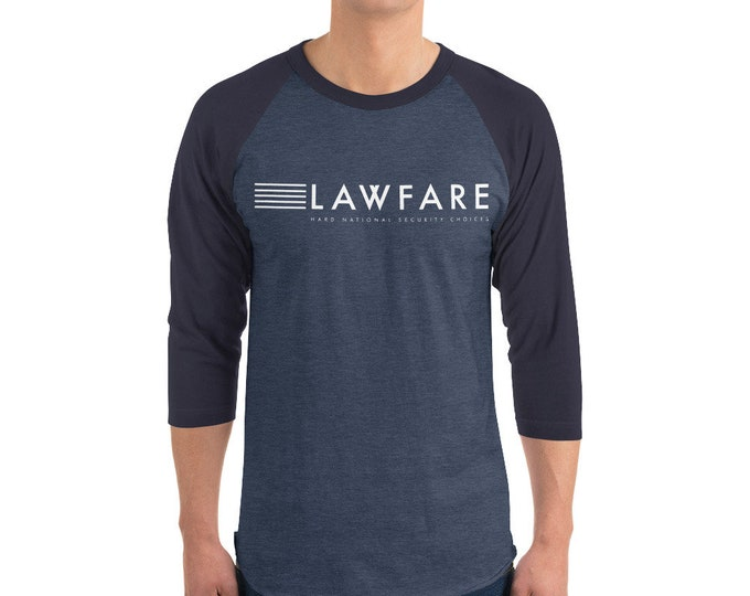 Featured listing image: Lawfare Banner White 3/4 Sleeve Baseball Raglan