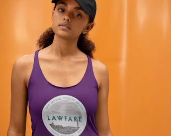 Lawfare Logo Badge Women's Tri-Blend Racerback Tank