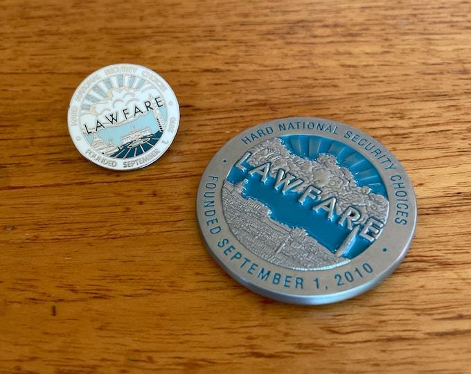 REPRESENT! Lawfare Challenge Coin + Enamel Pin set