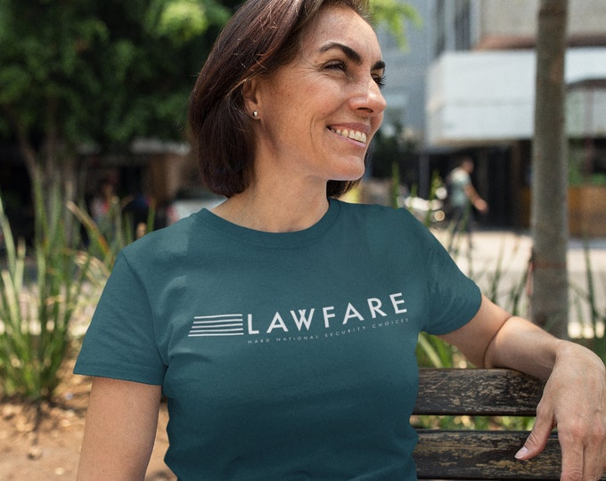 Featured listing image: Lawfare Banner White Tri-Blend Short Sleeve Unisex T-Shirt