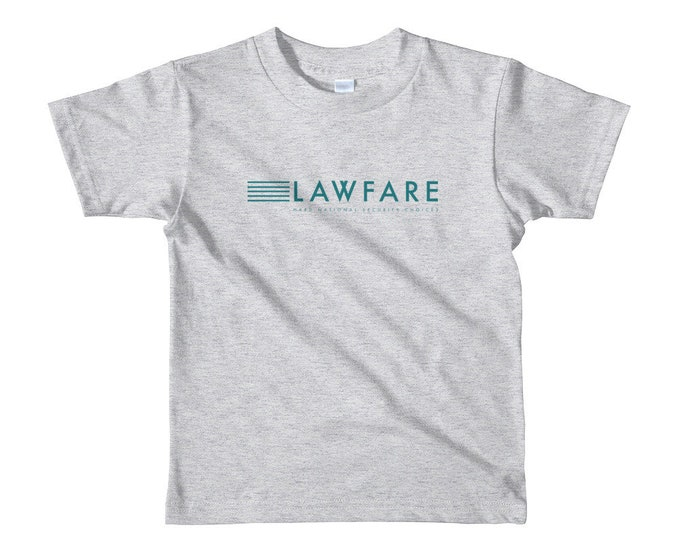Lawfare Banner short sleeve kids t-shirt