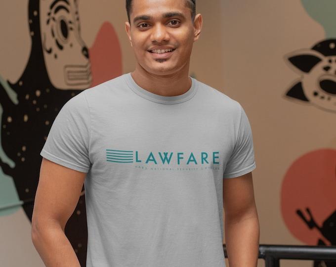 Lawfare Banner White Men's Fitted Short Sleeve T-shirt
