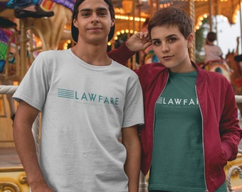 Lawfare Banner Unisex Triblend Short sleeve t-shirt