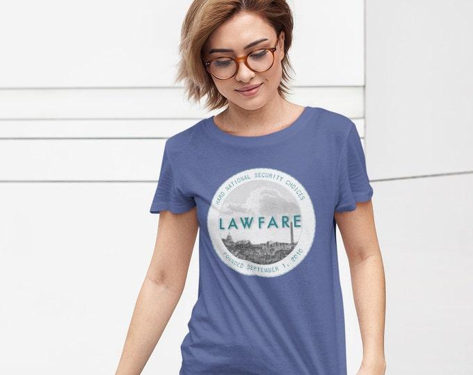 Lawfare badge women's short sleeve t-shirt
