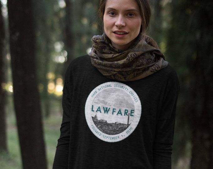 Lawfare Badge Flowy Ladies' Long Sleeve Tee
