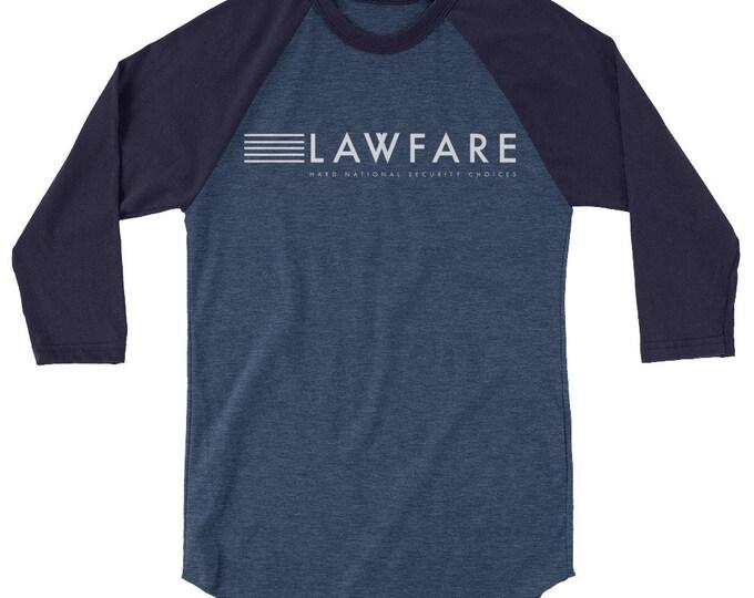 Lawfare Banner 3/4 sleeve raglan shirt