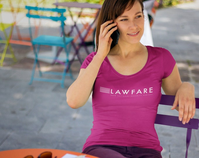 Lawfare Banner Ladies' Sheer Scoop Neck T-Shirt