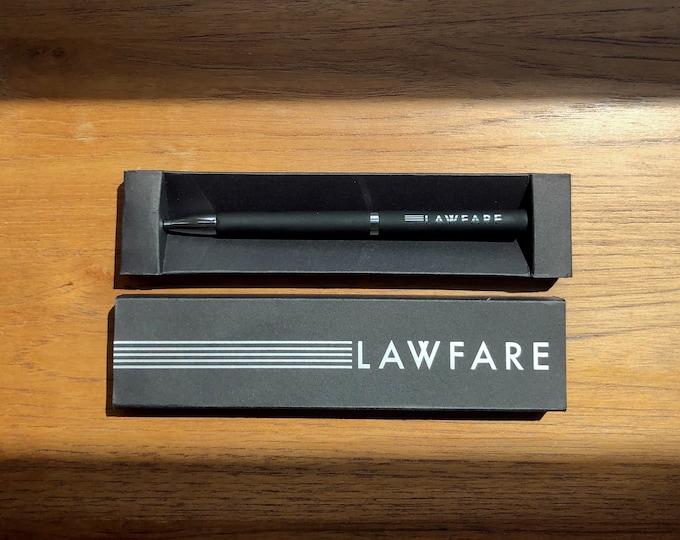Lawfare Laser Engraved Twist Pen in Gift Box