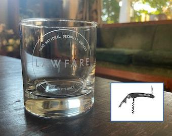 Goodbye, 2020 Lawfare Glasses + Corkscrew Gift Set