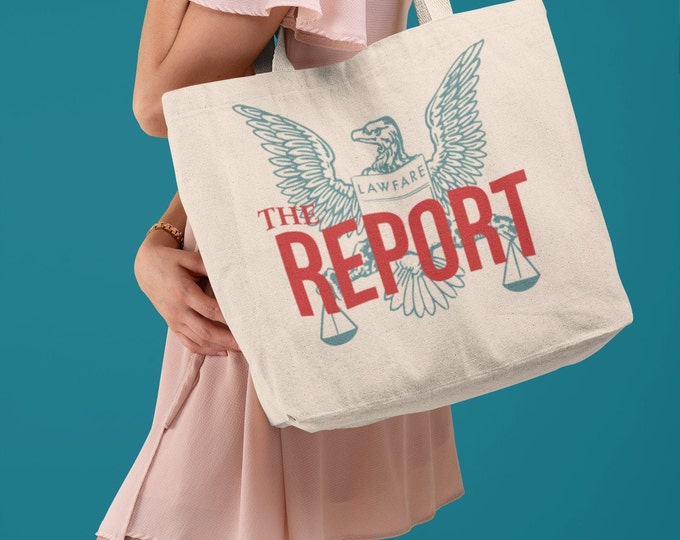 The REPORT podcast organic tote bag
