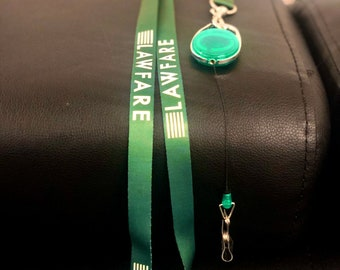 Lawfare Lanyard with retractible badge reel
