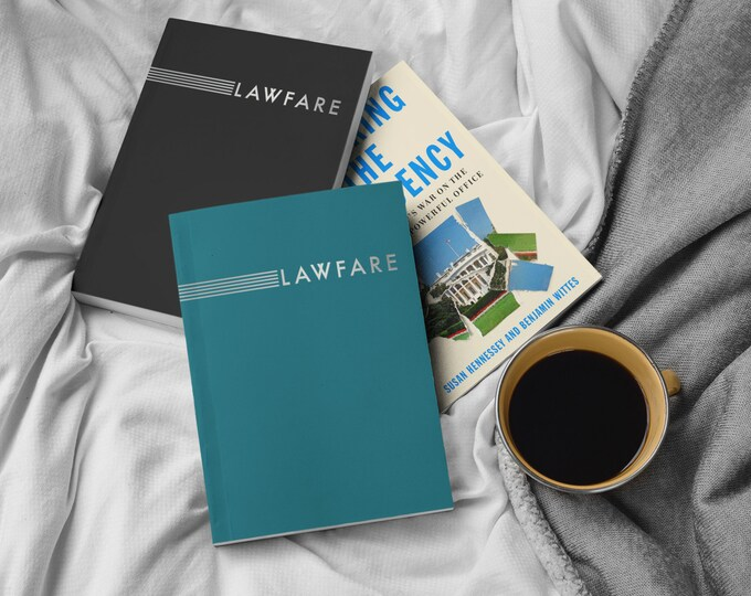 JUST ARRIVED! Lawfare Banner Custom Notebook