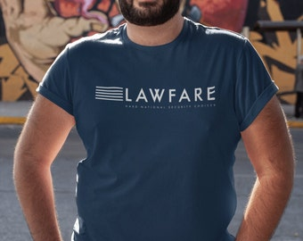 Lawfare Banner White Men's Fitted Short Sleeve T-shirt
