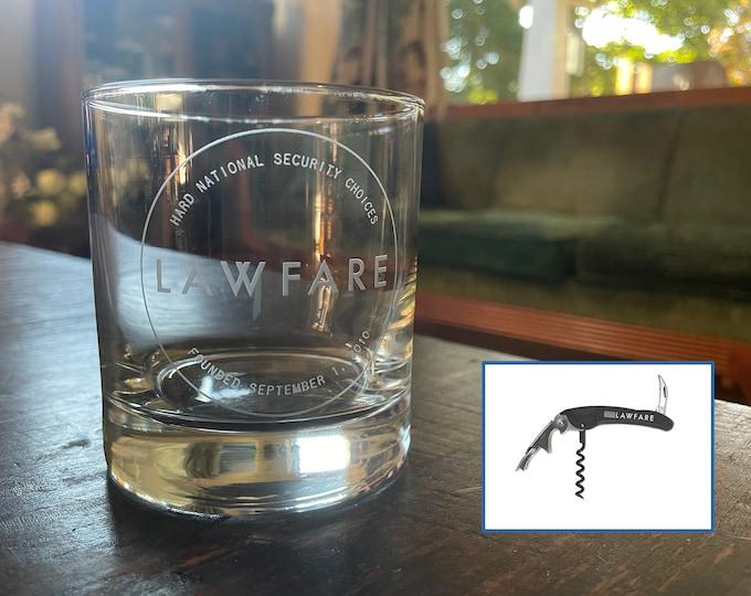 Featured listing image: Lawfare Glasses + Corkscrew Gift Set