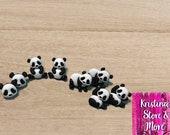 Realistic Zoo and Jungle Panda Earrings