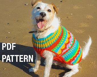 Crochet dog sweater Christmas jumper pattern, digital pattern only