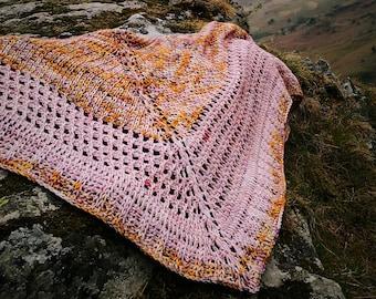 Tunisian Crochet Shawl Scarf Pattern, digital download