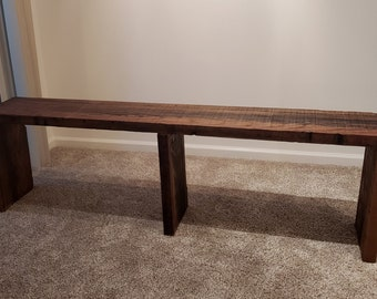 Wood Dining Bench, Entryway Bench