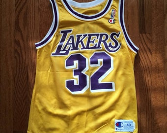 27ee598b8a0 Vintage Lakers Magic Johnson Champion Jersey 32 Sz 40 S-M
