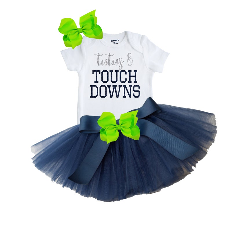 more photos 67867 6ce8e Seattle Seahawks Baby and Toddler Girl's Outfit, Newborn Seahawks Fan  Outfit, Baby Seahawks Tutus and Touch Downs, Seahawks Baby Outfit