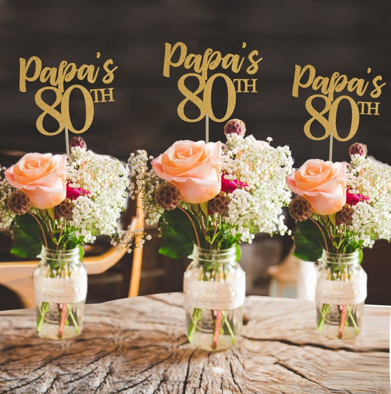 80th birthday centerpiece 80th centerpiece 80th birthday party 80th birthday decor gold 80th birthday party decorations 80th party decor