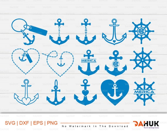 Anchor Heart Digital Clipart Svg Anchor Heart Anchor Heart Etsy