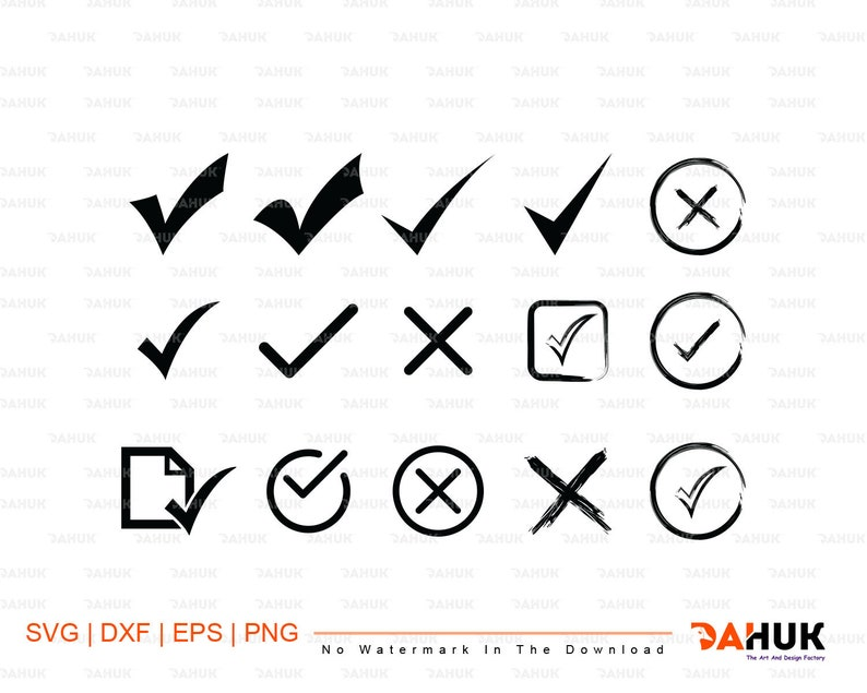 Check mark svg, Check mark Silhouette, eps, dxf, clipart, svg files, png,  cricut,cut file