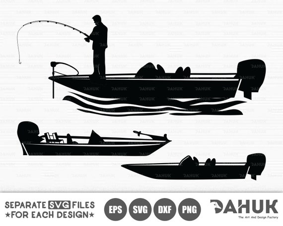 Bass Fishing Svg File Bass Boat Svg Fisherman Fishing Man Etsy