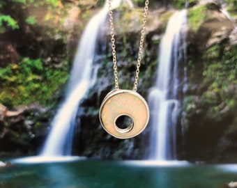 Lake Waiau - Small - Aloha Aina Collection - Pendant - Sterling Silver - Hawaiian Jewelry