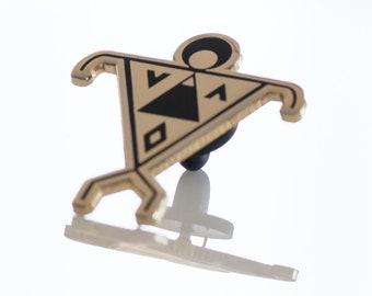 Aloha Aina - Lapel Pin - Pinback Button - Mauna Kea - Hawaiian Accessories