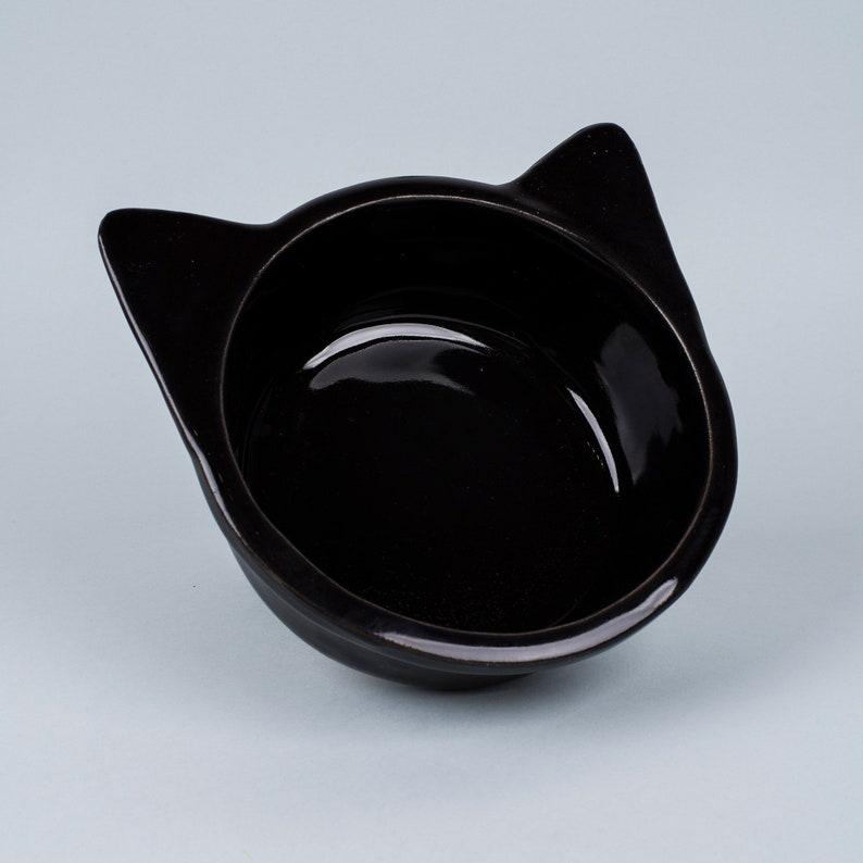 Ceramic bowl Cat black painted whole-pet decorate-trough trough for your pet