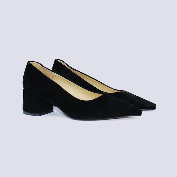 Black Low Heel Shoes