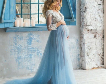 858be8a6e0b Baby Blue Maternity Dress