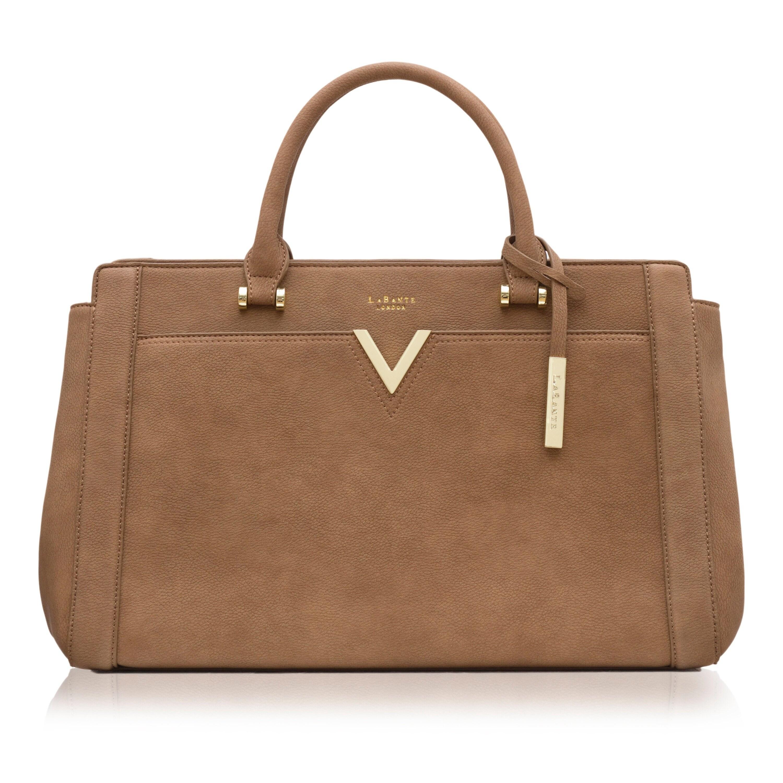 fa974a2356fa LaBante London Dawson Vegan Bag Tote Bag Leather Brown