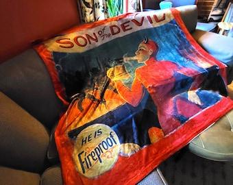 Son of the Devil Throw Blanket