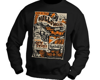 Vintage Retro Halloween Crew Neck Sweatshirt