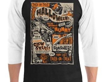 Vintage Retro Halloween Raglan T-Shirt