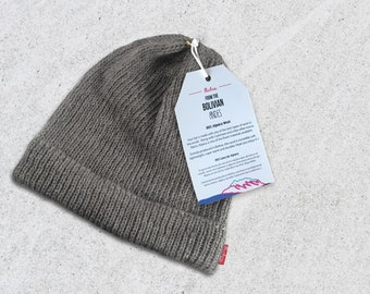 780f3ea213f Winter Hat Wool Beanie - Gray - Very Limited Quantities - 100% Alpaca Wool  - Premium quality - Handmade in the Andes Mountains