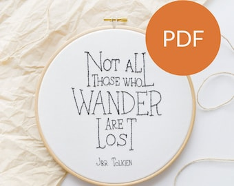 DIGITAL Lord Of The Rings PDF Embroidery Pattern that's beginner friendly, A Special For Her Gift That's Perfect Home Decor