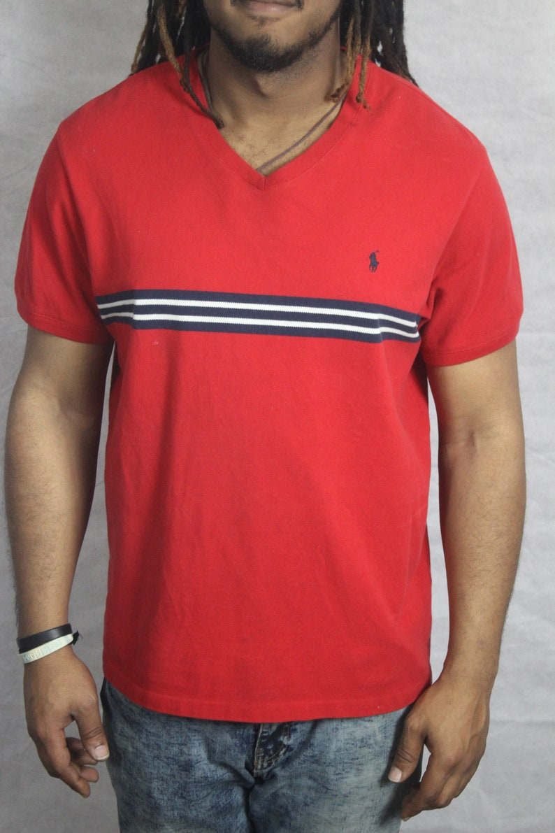 Ralph Lauren V Neck Stripped Polo