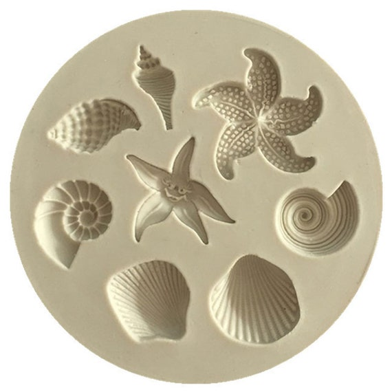3D Sea Shell Conch Fondant Chocolate Mould Cake Tool Sugarcraft Baking DIY Mold