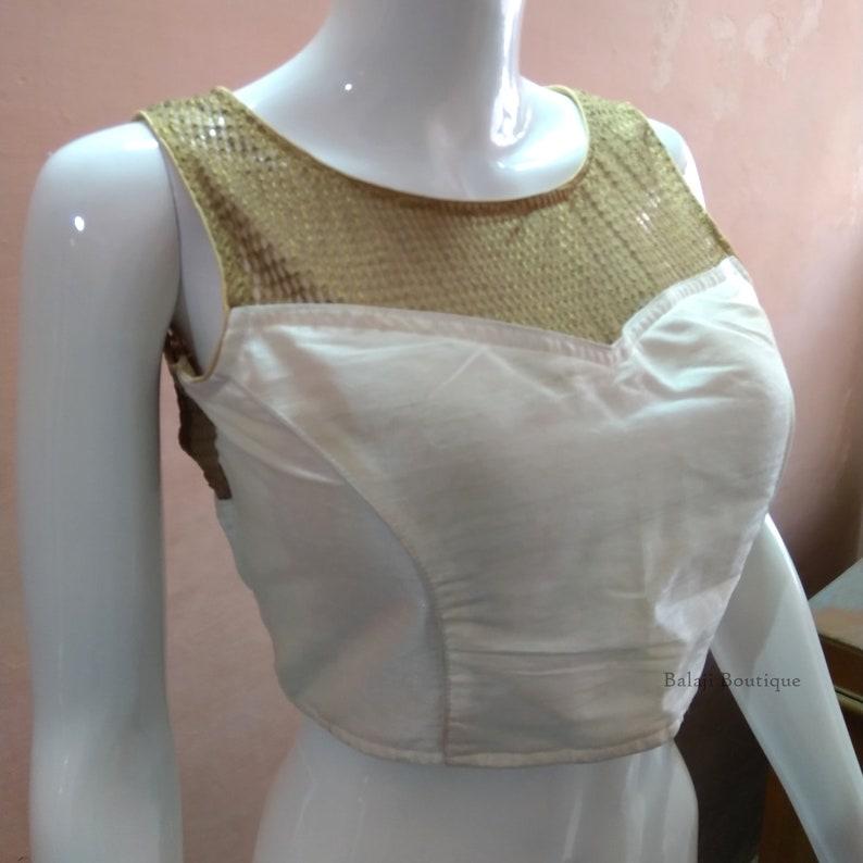 Beautiful Readymade White Saree Blouse For Women Readymade Choli Blouse Partywear Blouse Fancy Blouse Blouse Choli Sari Blouse 1pcs