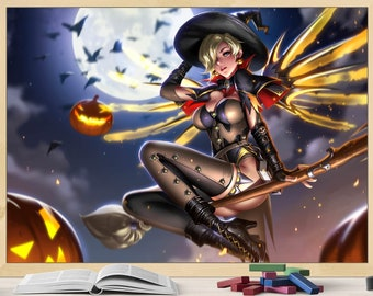 A0 A1 A2 A3 A4 Witch Mercy Overwatch Large Poster Art Print
