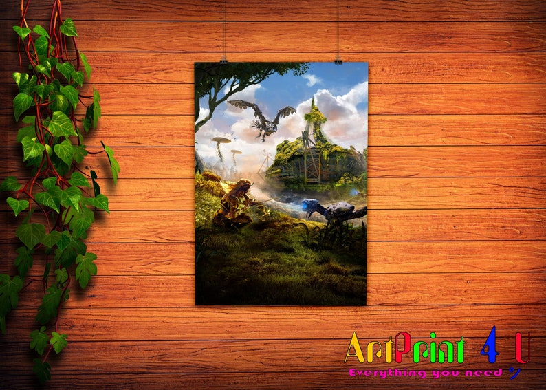 Horizon Zero Dawn Game Digital Art Poster Print T1148 A4 A3 A2 A1 A0|