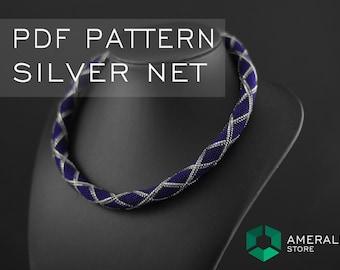 Bead Crochet Necklace pattern - Rope bead crochet necklace - Bead crochet rope pattern   - Rope bead necklace - Bead rope PDF pattern