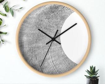 Modern wall clock, minimalist design wall clock, scandinavian clock, dorm wall art