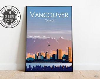 Vancouver Poster Etsy