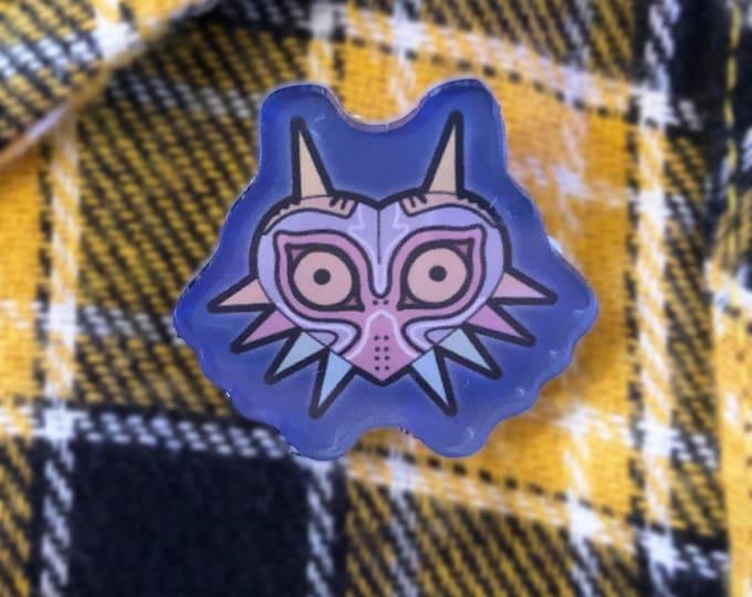 "Majora's Mask Inspired Acrylic Pin / 1"" inch pin / Zelda"