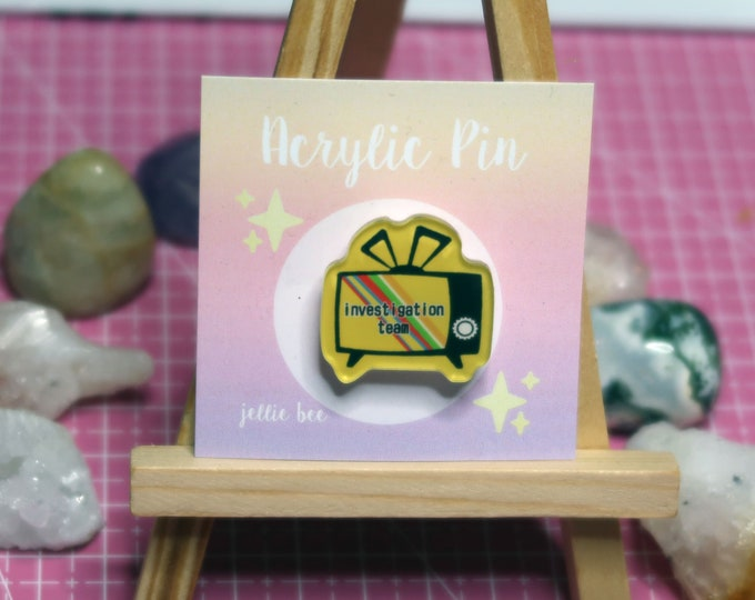 "Investigation Team Persona 4 Pin / 1"" / 1 Inch Acrylic Pin"